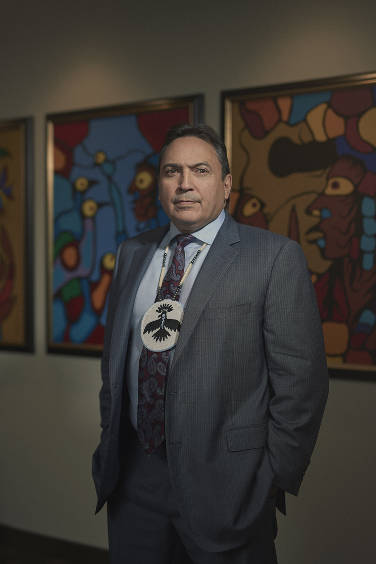 The National Chief of the Assembly of First Nations, Perry Bellegarde | Maclean